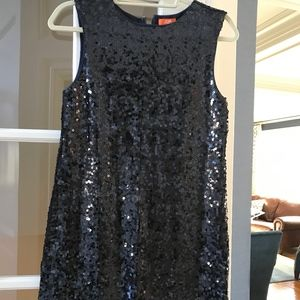 NWT Joe Fresh Stretch Navy Sequin Dress SZ XS